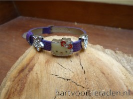 Armband Leer Hello Kitty